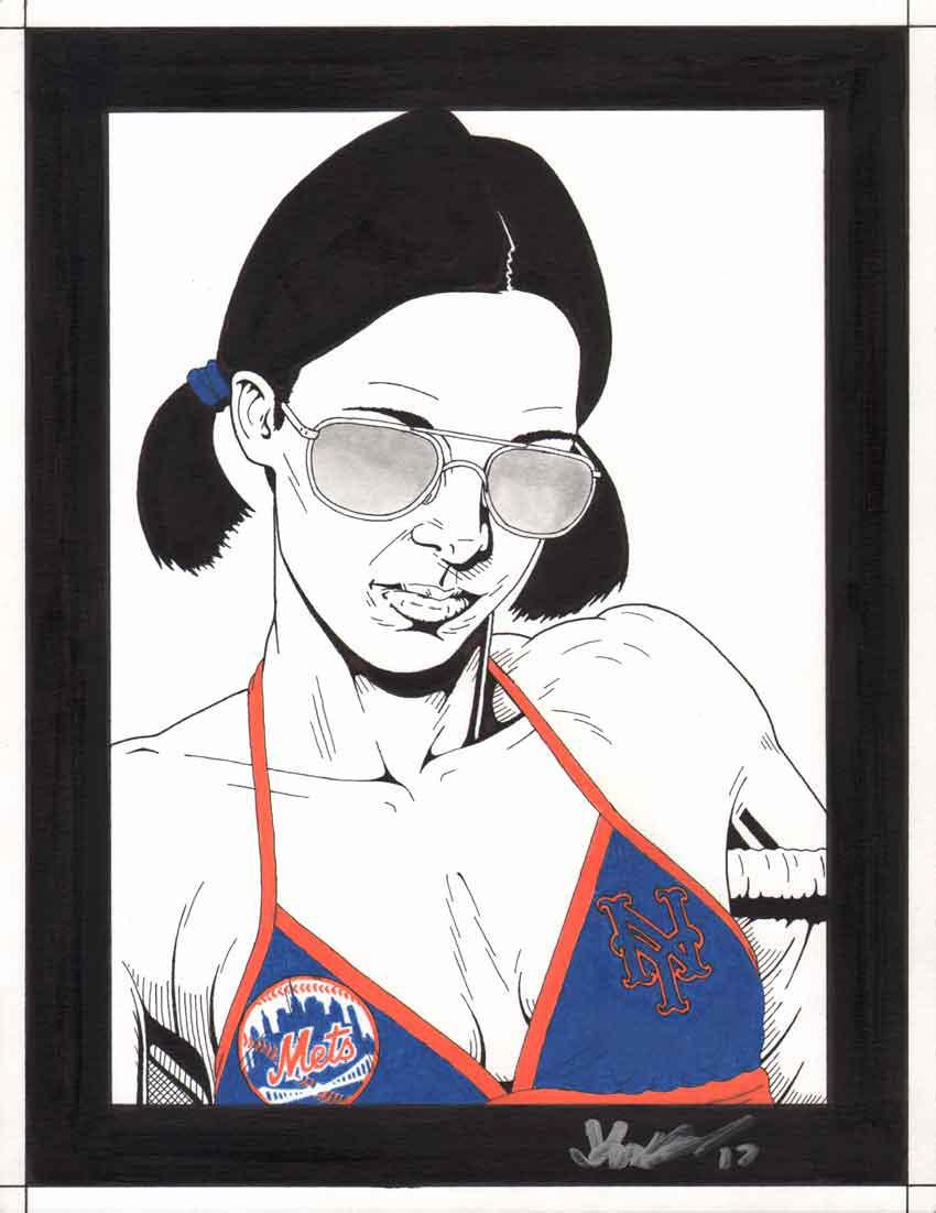 Lina in New York Mets Bikini by Knifley