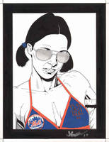 Lina in New York Mets Bikini by Knifley