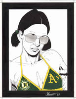 Lina in Oakland A's Bikini by Knifley