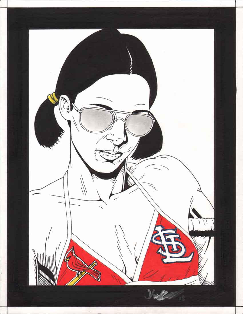 Lina in St. Louis Cardinals Bikini by Knifley