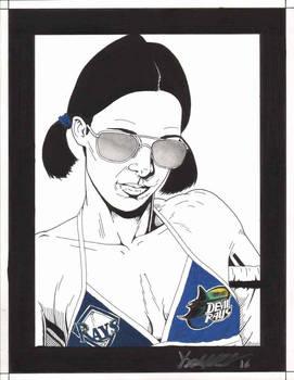 Lina in Tampa Bay Rays Bikini by Knifley