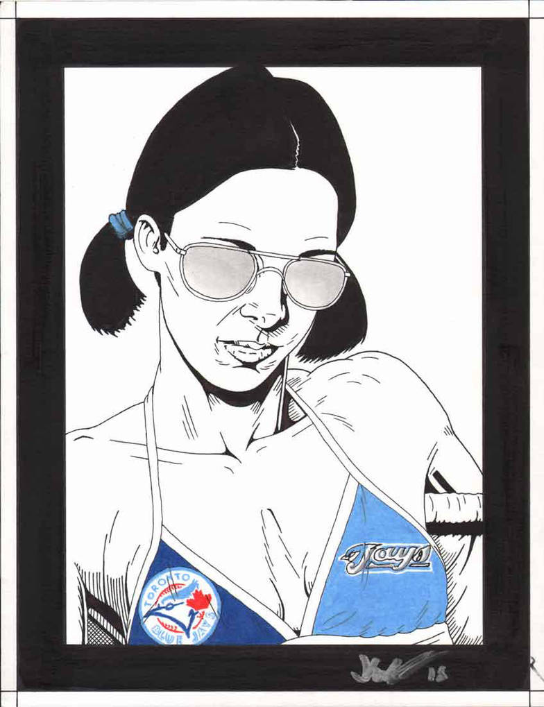 Lina in Toronto Blue Jays Bikini by Knifley
