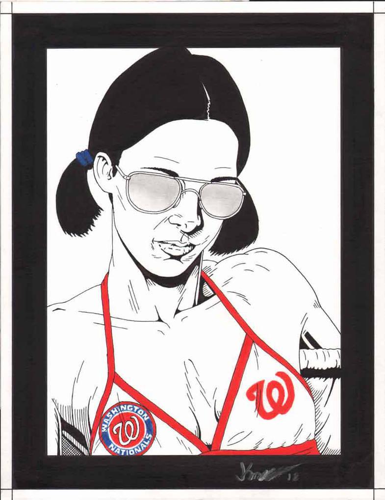 Lina in Washington Nationals Bikini by Knifley