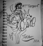 Inktober Day 11: (Transport) by FeralDoodle