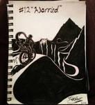 Inktober Day 1: (Worried) by FeralDoodle