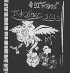 Inktober Day 31: (Friend) by FeralDoodle