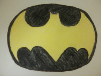 Batman Symbol Reverse Colors by OzzyZikeFan1057