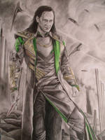 Loki The Dark World - Drawing by tofu0004