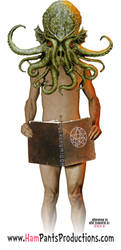 The Eponymous Naked Dude who will Read Lovecraft by chicodemon