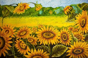 Sunflower Field by MelGama