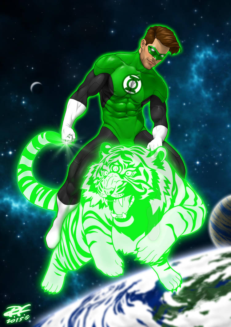 Green Lantern by Pandaphobia