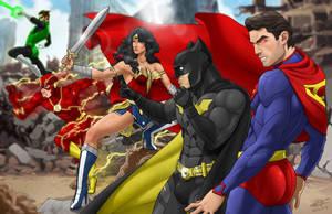 Justice League by Pandaphobia