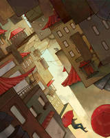red roof city by robyn-intherain