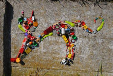 cat mozaiek by IleonardB