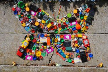butterfly mozaiek by IleonardB