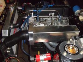 Aluminum Airbox Datsun 510 by metaltamer