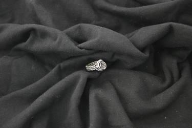 Triple-Twist Rose Ring by metaltamer