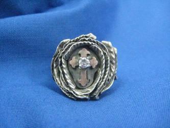 Diamond rose ring by metaltamer
