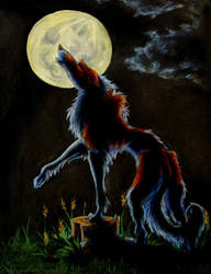 Moonlit Borzoi by cricket00fur