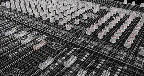 Mesh Mixing Desk by 3DPORTFOLIO