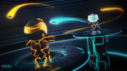 TRON Savoury Disc Fight by 3DPORTFOLIO
