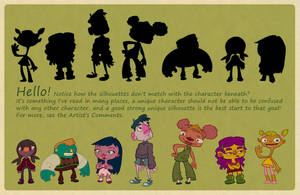 Silhouettes character design by Necrofuckup