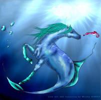 sea horse by horsegirljess