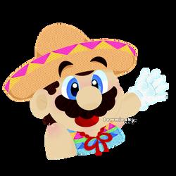 Just... Mexican Mario by TemmieSkyie