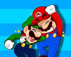 Happy Bros. by TemmieSkyie