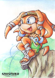 Gift: Conhon Entry for Tikal by Pichu-Chan