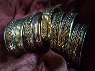 Viking Age bracelets by UEdkaFShopie