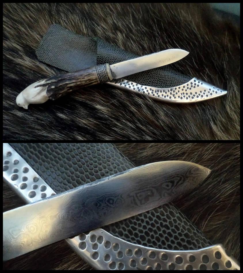 Dammascus blade knife by UEdkaFShopie