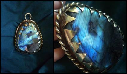Blue butterfly  pendant by UEdkaFShopie