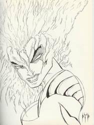 Fiery Woman by bloodninja