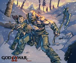 God Of War color Fanart by VinceColors
