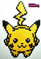 Perler Pikachu by hotpinkflamingo