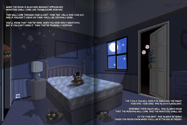 Five Nights at Freddy's 4: A Bedtime Story- Night1 by PinkyPills