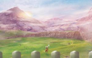 Lonlon Escape (wallpaper link below) by Orioto