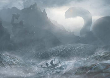 Meeting The World Serpent by Orioto