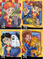 Harry Potter Sketch Cards by artyewok