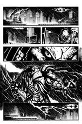 batman vs predator pg1 inks by VASS-comics
