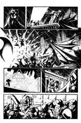 batman vs predator pg2 inks by VASS-comics