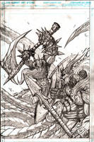 Murderthane promo pencils by VASS-comics