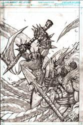 Murderthane promo pencils by VASS-comics