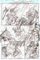 Murderthane teaser pg1 pencils by VASS-comics