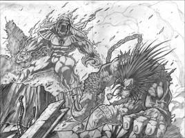 Red vs Green vs Lobo pg4-5 by VASS-comics
