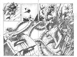 Murderthane vs Medusa 6-7 by VASS-comics