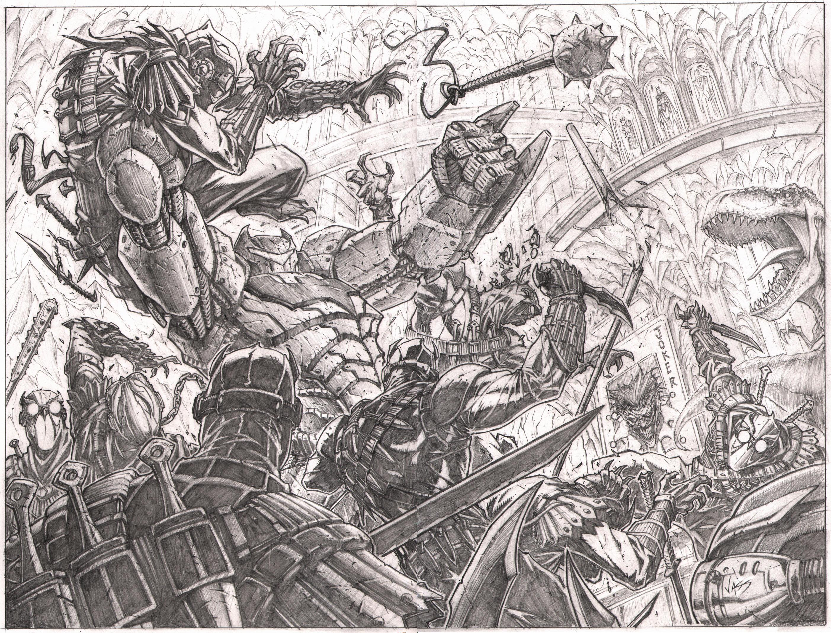 Batman 9 pg2-3 splash by VASS-comics
