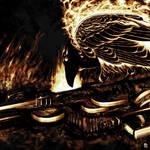 raven and gun by kevinwalker