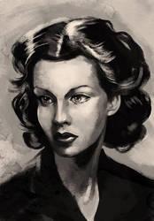 Greyscale-woman-potrait by TeeDizzle